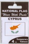 Cyprus Country Flag Tattoos.